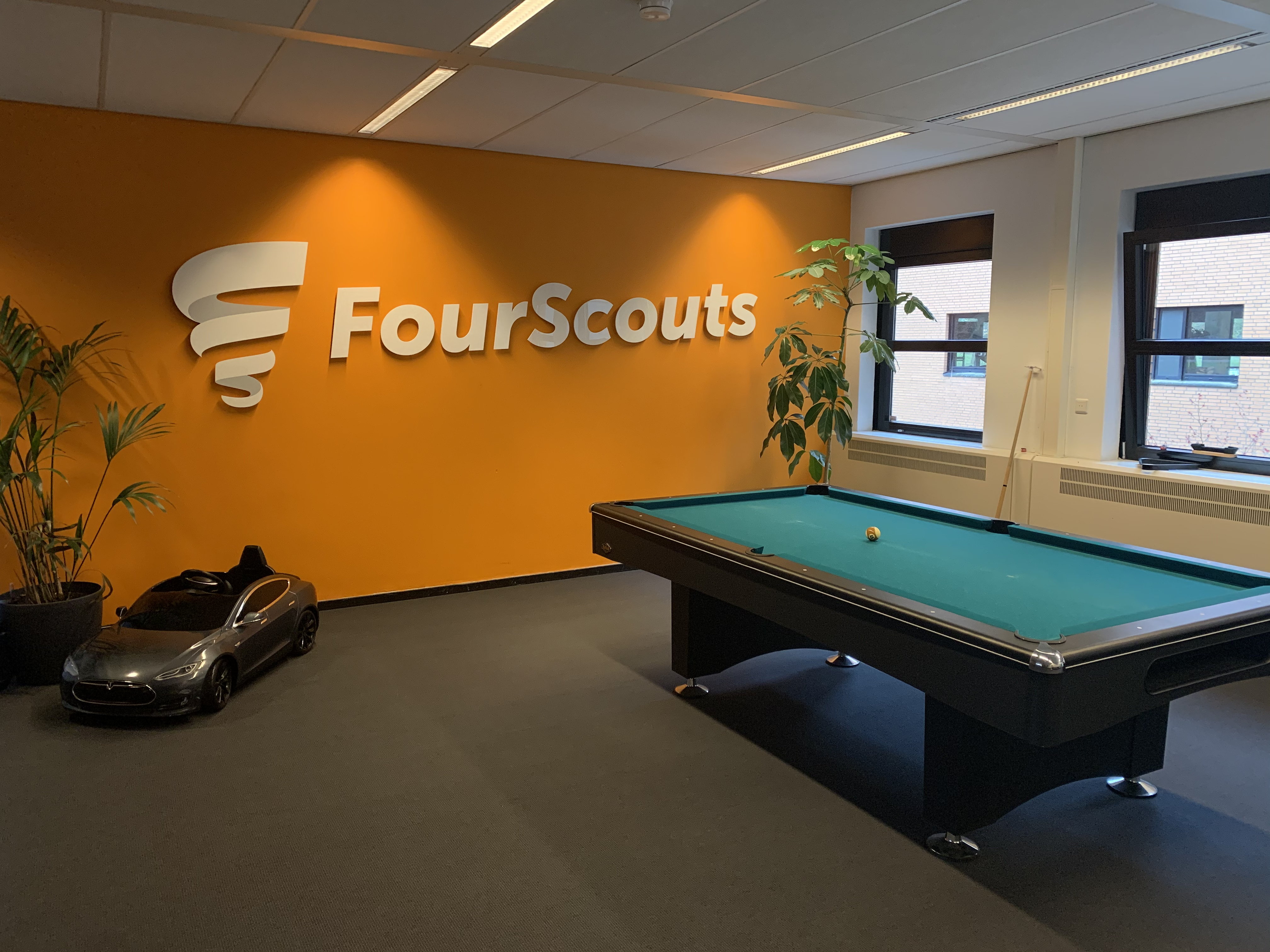 Our pool table at our office